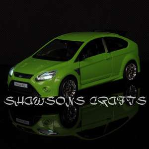 DIECAST 1/32 SOUND & LIGHT PULL BACK FORD FOCUS RS MODEL CAR REPLICA