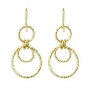 14k Yellow Gold 23mm X 50mm Door Knocker Earrings Jewelry
