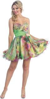 Pretty Print Short Sweet 16 Homecoming Dress Graduation Formal Party