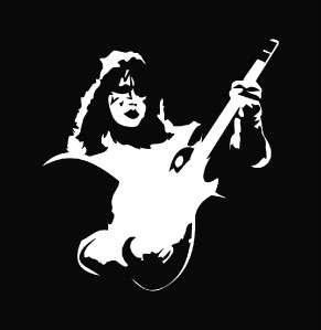 Kiss   Ace Frehley Die Cut Decal Vinyl Sticker   5.75
