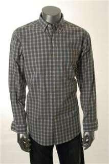 Club Room NEW Mens Button Down Shirt Gray Stretch L
