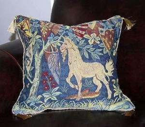 2x Unicorn Medieval cushion pillow cover 17p6 US SHIPP