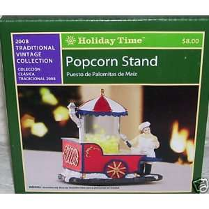 Holiday Time Popcorn Stand/Village Piece/Village Accessory