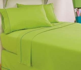 NEW DESIGNER MARIPOSA LIME GREEN GIRLS SHEET SET TWIN