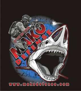 Mako Defense Shark Design Athletic Cut New Tactical T Shirt 100%