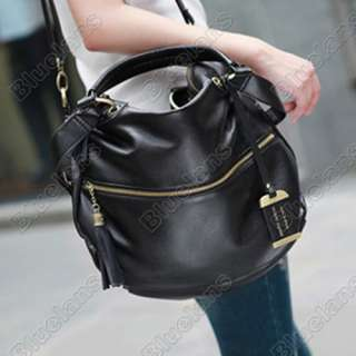 Faux Leather Bag Purse Handbag Tote Satchel Front Pocket Top Handles