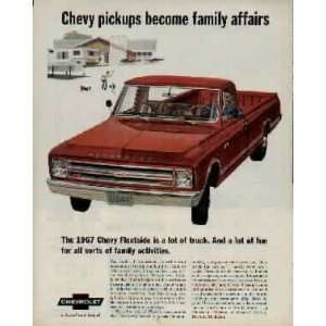 family activities. .. 1967 Chevrolet Fleetside Pickup Truck Ad