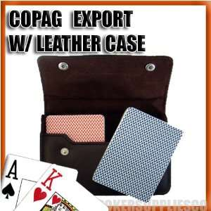 Copag Plastic Cards Leather Case Set Export Poker Jumbo