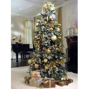 Flocked Snow Christmas Tree W/ Clear 700 Lights NIB