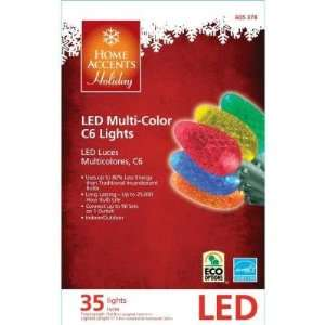Holiday 35 LED Multi color C6 Christmas Lights Patio, Lawn & Garden