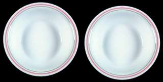 Corelle PEACH FLORAL 7 1/4 Coupe Soup Bowls Retired 1991 Corning