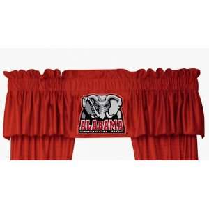 NCAA ALABAMA CRIMSON TIDE LOGO WINDOW VALANCE: Sports