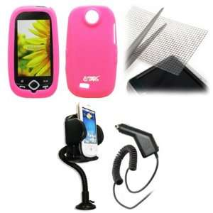 EMPIRE Hot Pink Silicone Skin Case Cover + 360 Degree