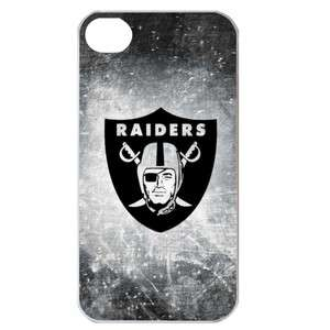 Oakland Raiders Logo in iPhone 4 or 4S Hard Plastic Case Cover