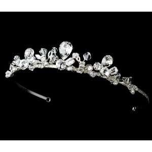 Silver Sparkling Rhinestone Crystal Bridal Tiara Jewelry
