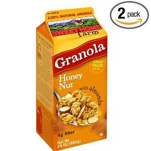 Sweet Home Farm Honey Nut Granola with Almonds, 24 Ounce Cartons (Pack