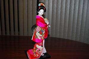 HANDMADE SILK BRODADE JAPANESE GEISHA DOLL !Fast & Free Shipping