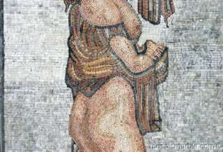 BEAUTIFUL ROMAN WOMAN SCENE MOSAIC WALL HANGING NR