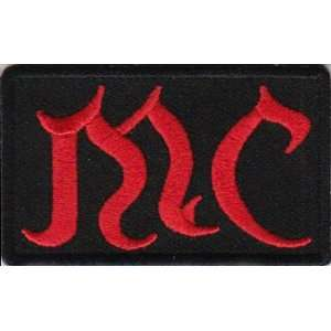 MC Patch Red Old English Lettering Club Quality Embroidered NEW Biker