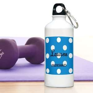Baby Keepsake Sapphire Personalized Polka Dot Water Bottle Baby