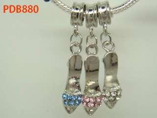 high heel shoe dangle Bead Fit European Bracelet B880