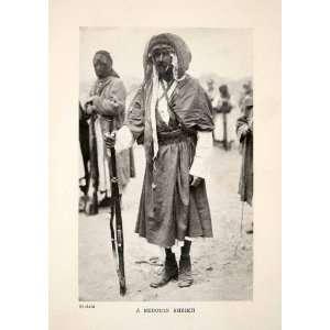 1924 Print Bedouin Sheikh Skaikh Arab Costume Rifle Gun