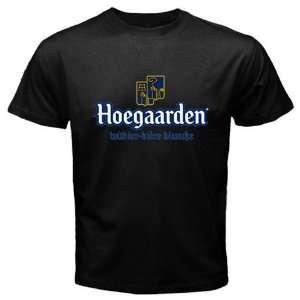 Hoegaarden Belgium Beer Logo New Black T shirt Size L