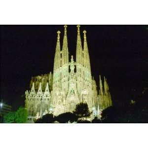 Sagrada Familia at Night   24x36 Poster