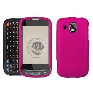Rubberized Rose Pink HARD Protector Case Phone Cover for Samsung