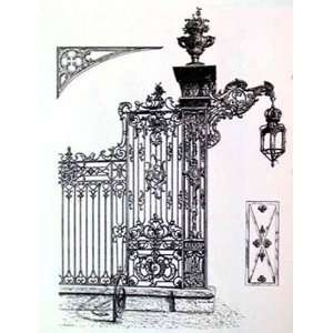 Wrought Iron Gate IV Poster Print