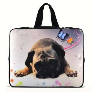 17 inch Laptop Puggy Dog Bag Sleeve Case with Hidden Handle for 16 17