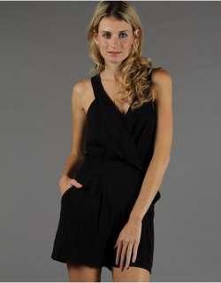 BCBG Generation BLACK Max Azria Romper Sleeveless Tie Waist Medium