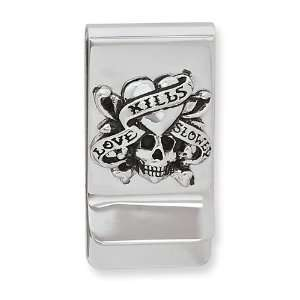 Stainless Steel Designers Love Kills Slowly Money Clip Jewelry