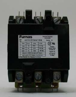 Furnas Siemens Definite Purpose Contactor 42FE35AG106 75A