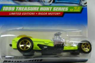 1999 Hot Wheels th treasure hunts RIGOR MOTOR 4/12  