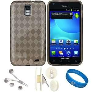 Smoke Argyle Premium Protective Silicone Skin Cover for Samsung Galaxy