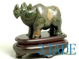 Nephrite Jade Carving /Sculpture Rhinoceros Statue