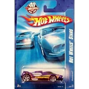 2008 #094 Hot Wheels Stars MAELSTROM Purple on 40th Anniversary Card