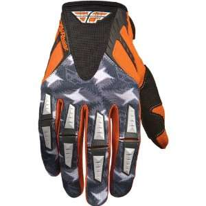 Mens Dirt Bike Motorcycle Gloves   Orange/Grey / Size 9 Automotive