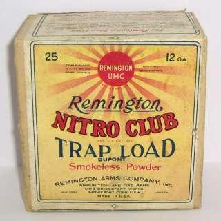 REMINGTON NITRO CLUB TRAP LOAD 2 PIECE 12 GA EMPTY SHOTGUN SHELL BOX