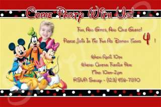 Custom Mickey Mouse Clubhouse and Friends Invitations