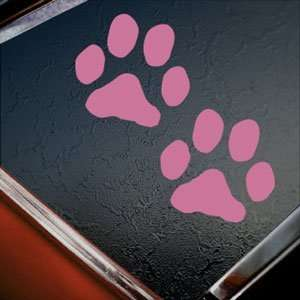 Dog Paw Prints Pink Decal Car Truck Bumper Window Pink