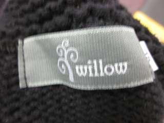 WILLOW Black Swing Cable Knit Sweater Cardigan Sz XL