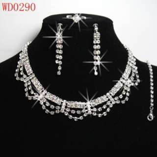 Attractive Wedding/Bridal Czech Crystal Necklace Sets