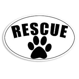 Oval Rescue (Dog Shelter) Paw Sticker