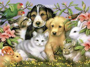 Adorable Pets Cross Stitch Pat Dogs Cats Birds Bunnies