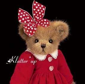 Bearington Bear Doll Heart 190049 VANESSA VALENTINE NEW