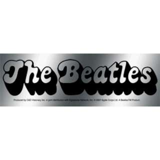 The Beatles   Black Bubbly Letter Logo on Shiny Silver
