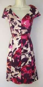 DONNA RICCO Floral Cotton Casual/Cocktail Dress 4 NEW