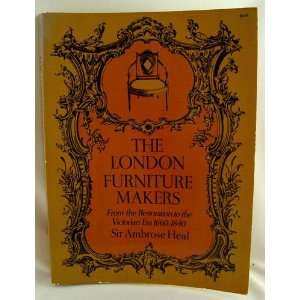 London Furniture Makers from the Restoration to the